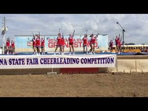 Jay County High School cheerleaders state fair preliminary performance 2015