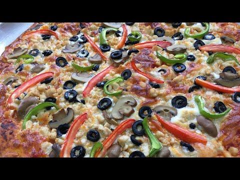 صورة  طريقة عمل البيتزا طريقة عمل بيتزا بجبنة الموزريلا بطريقة احترافية ولذيذة المذاق طريقة عمل البيتزا من يوتيوب