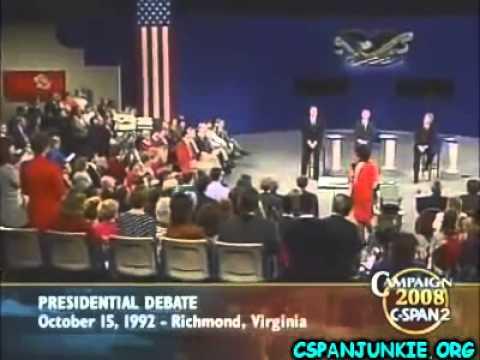 1992 Presidential Debate Bush vs. Clinton vs. Perot