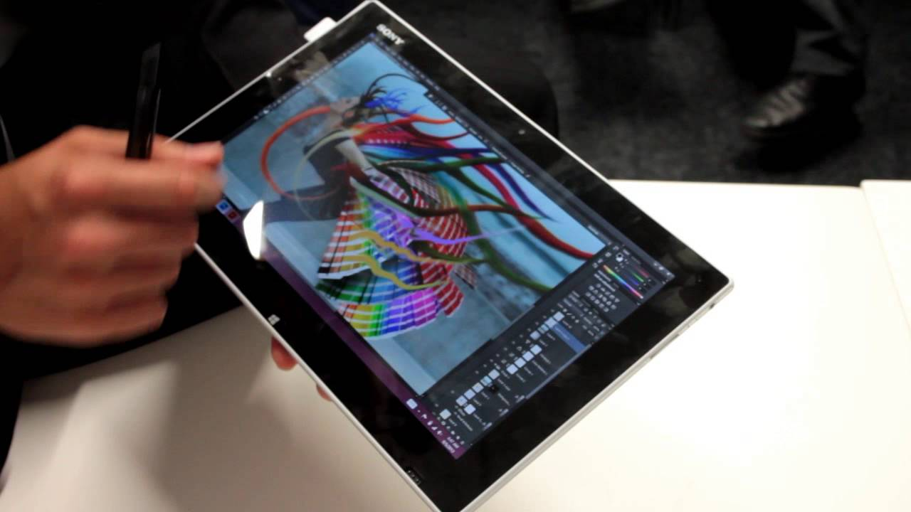 sony vaio tap 11 windows tablet hands on adobe photoshop and