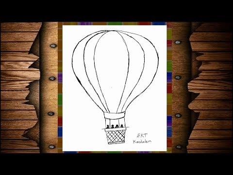 Ekt Karakalem Kolay Ve Basit Ucan Balon Cizimi Youtube