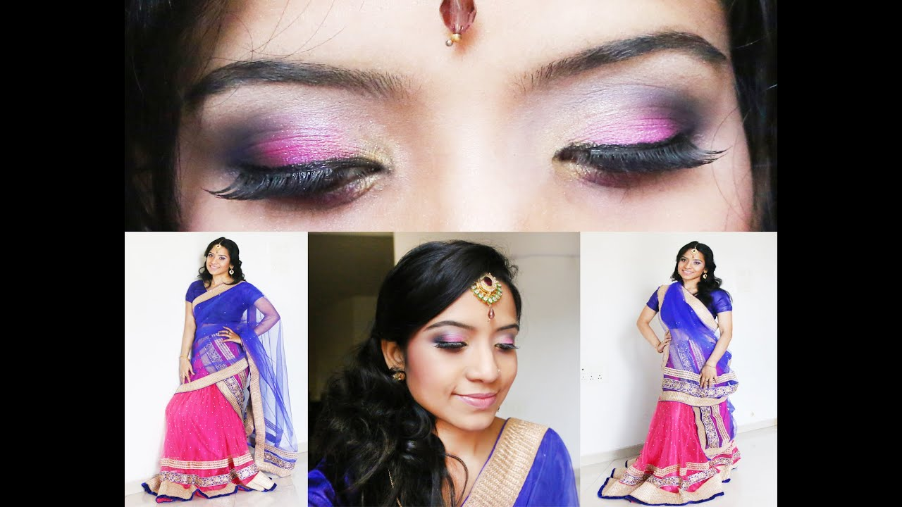 Indian Festival makeup series Part 2  Indian wedding makeup ...