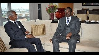 Raila Odinga mourns Koffi Annan in a special way