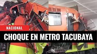 Así ocurrió el choque de trenes en metro Tacubaya