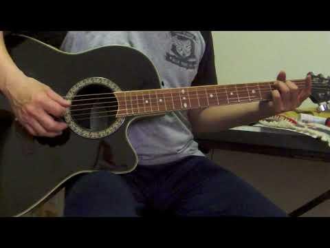 Ovation Celebrity CC057 Acoustic Electric Guitar Black Korea Demo