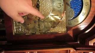 Ridgeway Grandfather (tall Case) Clock - Sorry It's Sideways.