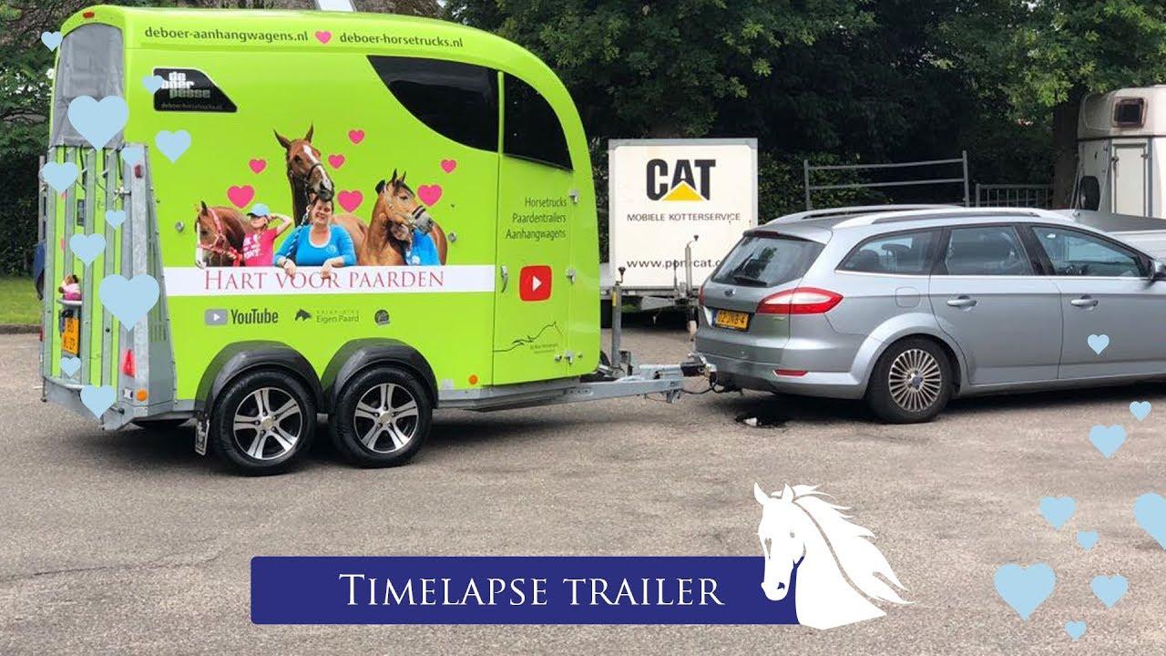 Onze Trailer Krijgt Stickers Timelapse Hart Voor Paarden Youtube