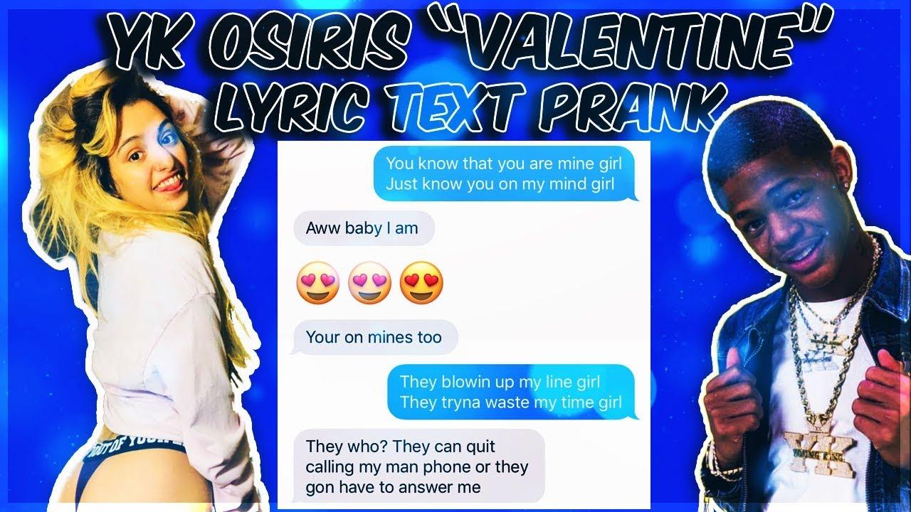 Yk Osiris Valentine Lyric Prank On Girlfriend Youtube