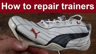 How to repair trainers