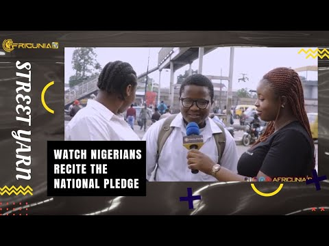 So funny!! Watch Nigerians Recite the National Pledge?