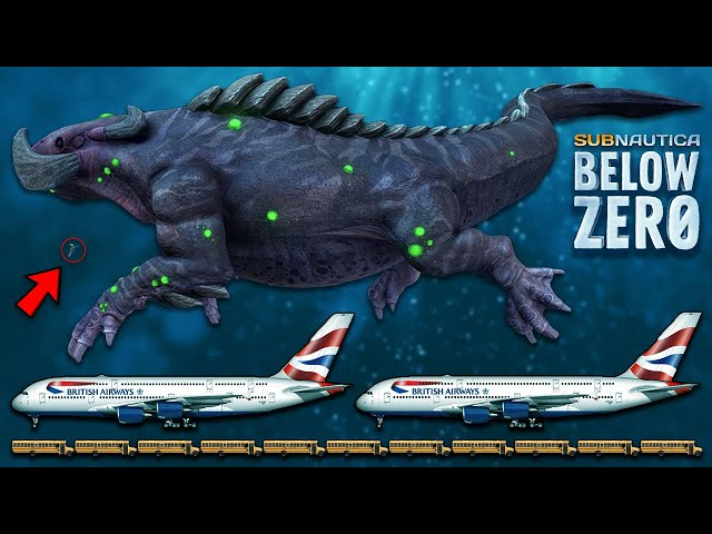 The REAL Size of Creatures in Subnautica: Below Zero will BLOW YOUR MIND