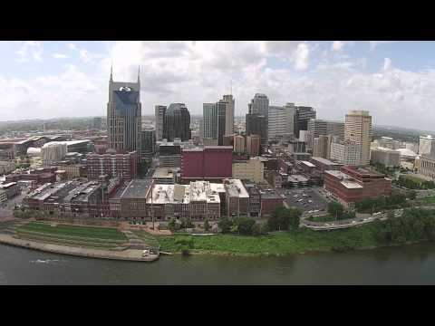 Drone Nashville - Flight From LP Field to Downtown Music City