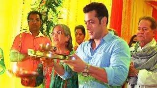 Video - Salman Khan celebrates Ganesh Chaturthi with family at sister Alvira