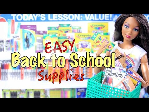 DIY - How to Make: EASY - Back to School - Supplies Craft - 4K