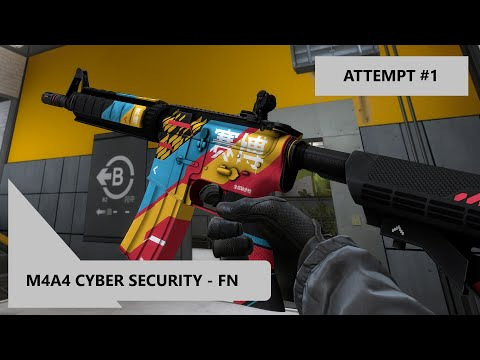 CS:GO M4A4 Cyber Security Broken Fang Classified Trade Up | Attempt 1