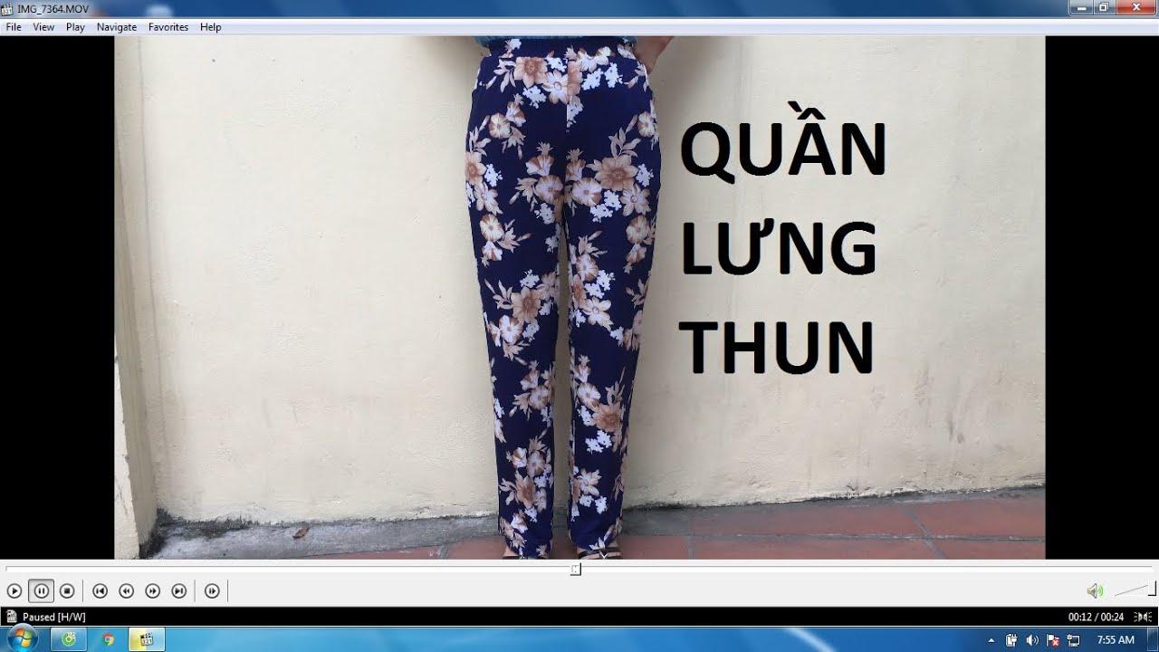 Quần lưng thun | may quần cạp chun | B55 | - Phương Đàowww