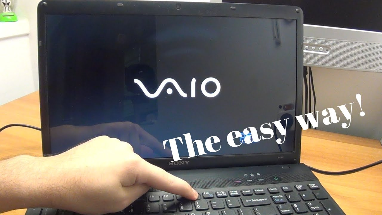 sony vaio laptop format windows 7