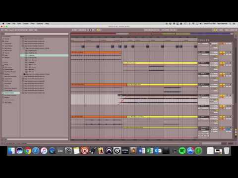 Using Multitracks Ambient guitars to transition from one song to another in Ableton
