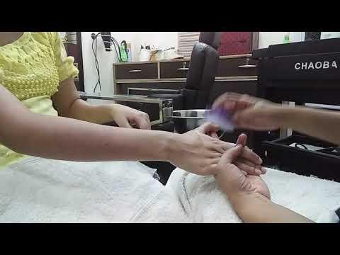 Manicure at salon