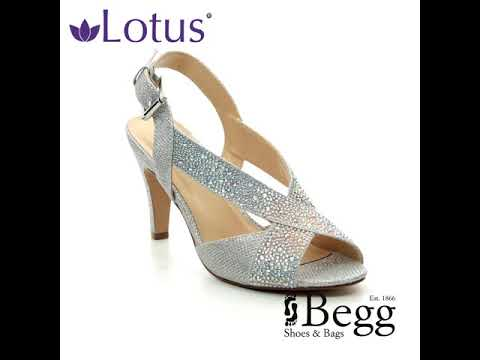 8dcca6d4256 Lotus Anya Silver Heeled Sandals - YouTube