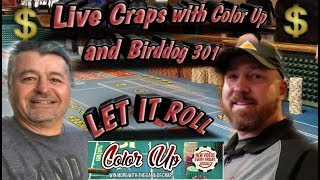 Real Craps With Color Up and Birddog 301