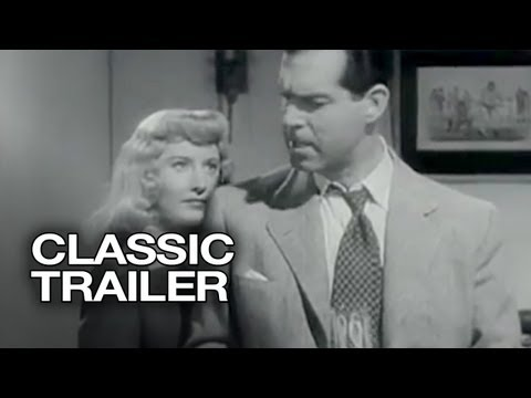 Double Indemnity Official Trailer #1 - Fred MacMurray, Barbara Stanwyck Movie (1944) HD