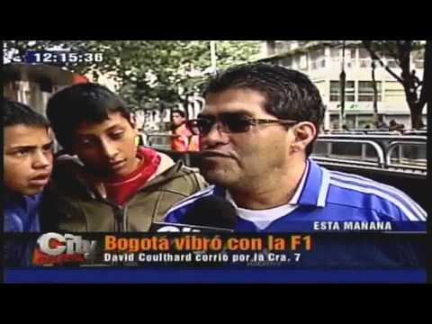 David Coulthard Red Bull Racing F1 por Kra 7a Bogotá Colombia TV Noticas