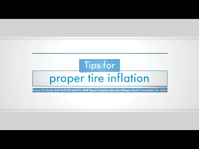 Tips for Proper Tire Inflation