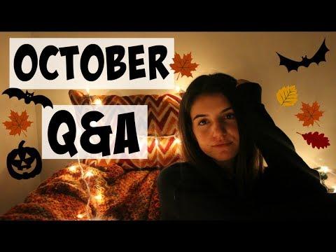 GROWING UP IN LA, DATING, & DEPRESSION: OCTOBER Q&A! //JuliasLife02