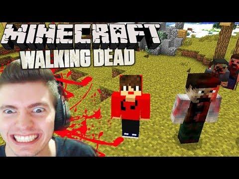 Minecraft: CRAFTING DEAD - A PRIMEIRA NOITE!!! #01
