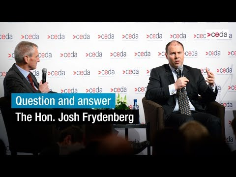 Question and answer with the Hon. Josh Frydenberg