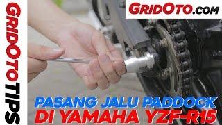 Cara Pasang Jalu Paddock di Yamaha YZF-R15 | How To | GridOtoTips