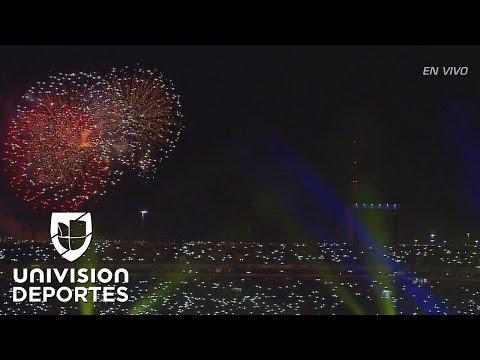 Espectacular recibimiento al campeón Tigres en el Estadio Universitario