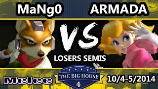 TBH4 - C9 Mango (Fox, Falcon) Vs. P4K EMP | Armada (Peach) SSBM Losers Semis - Smash Melee