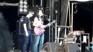 """Soundcheck performance of the song """"Osaka Rock City"""" by Shonen Knif..."""