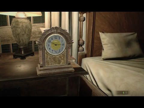 resident evil 7 master bedroom clock puzzle time secret room youtube