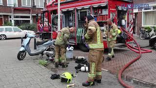 Grote brand in woning Graswinckelstraat Rotterdam