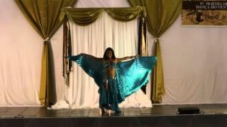 Solo Gabi Leite - véu wings - IV mostra de dança do ventre - Templo de Isis - 2015