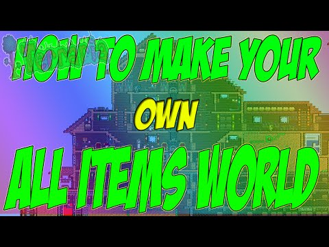 TERRARIA HOW TO MAKE ALL ITEMS MAP FOR XBOX - WORKS FOR XBOX ONE