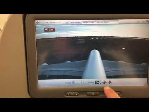 Emirates a380 - camera/maps