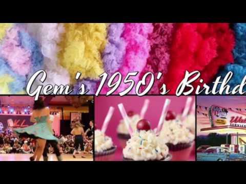 Gem's 50's themed birthday party