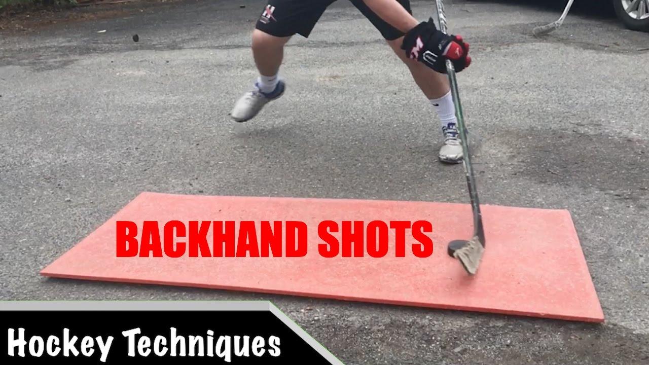 Backhand Shots: Off Ice Shooting Drills - YouTube