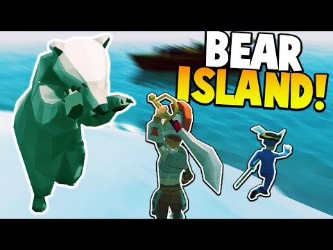 POLAR BEAR ATTACK ON SNOW ISLAND!! - Ylands Gameplay - Ylands Exploration and Ship Building