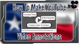 How To Create YouTube Video Annotations (2015)(Learn how to add annotations to YouTube videos to get viewers to act, interact, and increase their engagement. We show you how to create links to your ..., 2014-11-01T15:44:39.000Z)