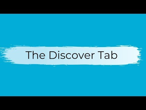 The Discover Tab