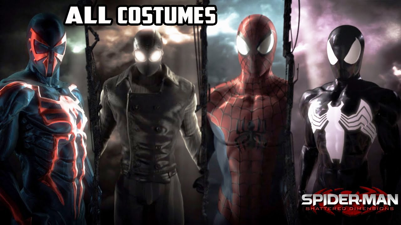 Spiderman Shattered Dimensions All Costums Youtube