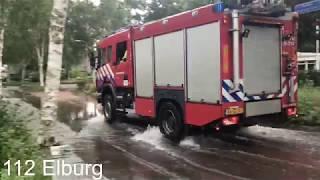 (Ingezonden) P1 Brandweer Nunspeet met spoed door het water naar een wateroverlast