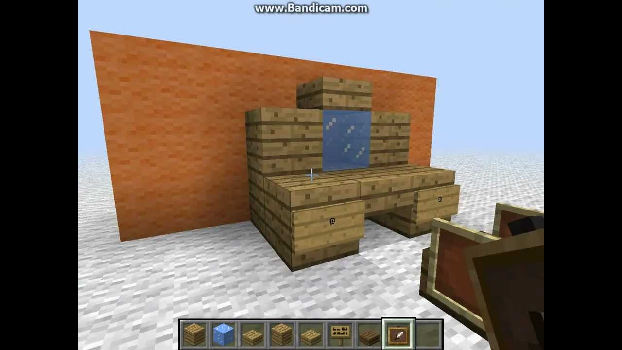 minecraft dressing table youtube. Black Bedroom Furniture Sets. Home Design Ideas