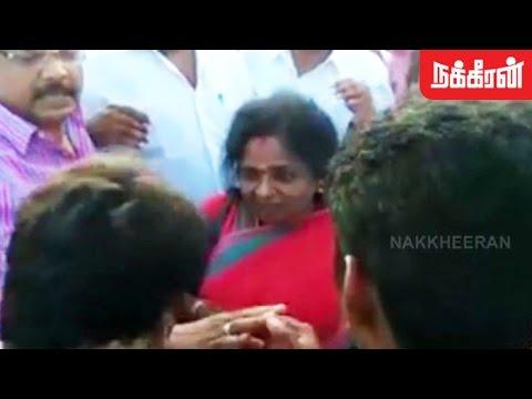 தமிழிசை மீது இளைஞர்கள் ஆவேசம்..! Students Question Tamil Isai At Madurai