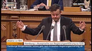 G20-Gipfel: Andrè Trepoll zur Regierungserklärung von Olaf Scholz am 12.07.17